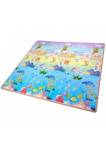 Double Sided Printed Toddler Crawling Mat With Educational Information (Ocean World & Zoo)