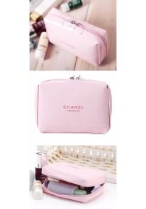 Chanel Make Up Pouch 2pcs Set (Pink)