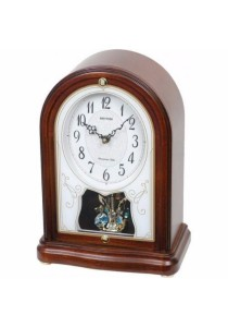 Wooden Mantel from Rhythm Clocks - CRH225NR06