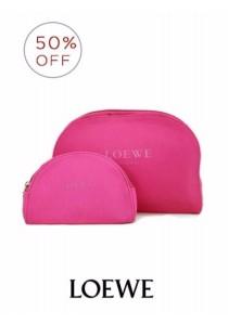 Loewe 2pcs Pink Cosmetic Bags Set (Pink)