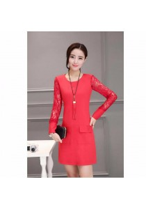 Fashion OL Dress (Pink)