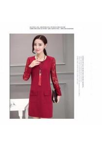 Fashion OL Dress (Red)