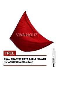 MEGA Bean Bag (XL Size)- Red + FREE Black Dual Adapter Cable