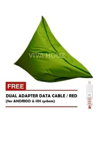 MEGA Bean Bag (XL Size)- Green + FREE Red Dual Adapter Cable
