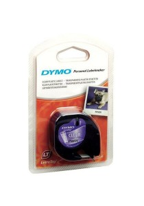 DYMO Label Maker Black on Transparent LetraTag Plastic Tapes DY-TP-12267/721530