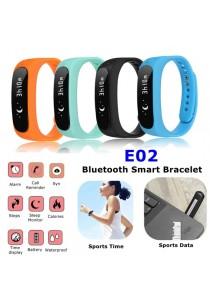 E02 OLED Display Waterproof Bluetooth 4.0 Fitness Android Smart Watch Smart Bracelet (Black)