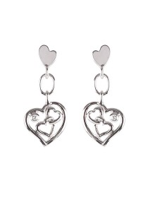 Gordonmax Double Heart Earring E10620