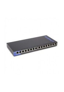 Linksys LGS116P-AP 16 Gigabit Ethernet Auto Sensing PoE Switch (16-Port Business Dekstop)