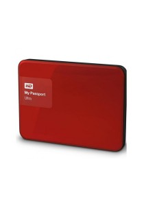 Western Digital My Passport Ultra Portable External Hard Drive 2.5 Inch 1TB USB 3.0 (Red)