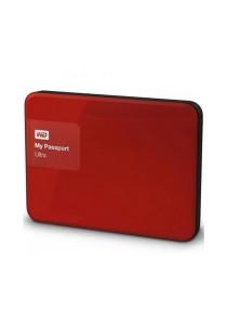 Western Digital My Passport Ultra Portable External Hard Drive 2.5 Inch 2TB USB 3.0 (Red)
