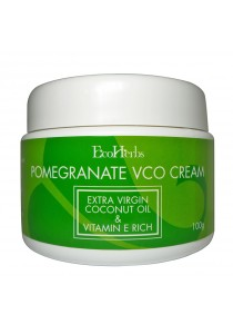 EcoHerbs Pomegranate VCO Cream (Vitamin E Rich With Protein) Natural Hair Care/Hair Loss/Hair Thinning For Strong Hair, Shinier Hair & Prevent Damages - 100g