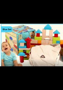 100-pcs Wooden Brick Set  (ELC Blue)