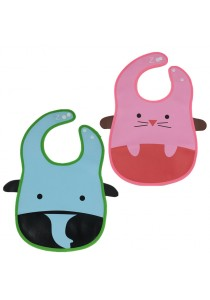 PVC Baby Bib (Wipe-clean Quality) - BB04 (Elephant-Mouse)