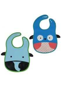 PVC Baby Bib (Wipe-clean Quality) - BB04 (Elephant-Owl)
