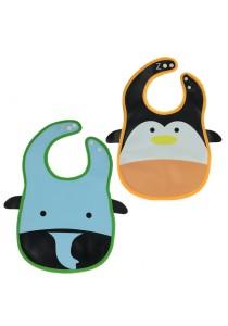 PVC Baby Bib (Wipe-clean Quality) - BB04 (Penguin-Elephant)