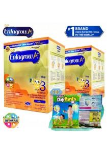 Enfagrow A+ Step 3 (1-3 Years) 1.8kg (2 packs) - Original + FOC 3 packs Petpet DayPants Sample (random size)