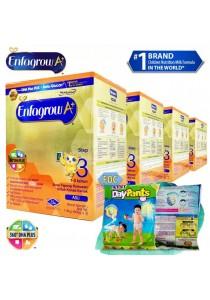 Enfagrow A+ Step 3 (1-3 Years) 1.8kg (4 packs) - Original + FOC 5 packs Petpet DayPants Sample (random size)