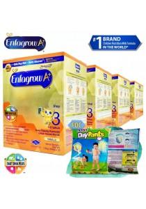 Enfagrow A+ Step 3 (1-3 Years) 1.8kg (4 packs) - Vanilla + FOC 5 packs Petpet DayPants Sample (random size)