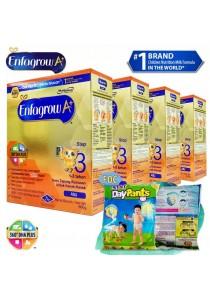 Enfagrow A+ Step 3 (1-3 Years) 600g (4 packs) - Original + FOC 2 packs Petpet DayPants Sample (random size)