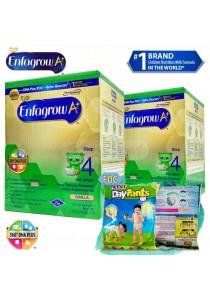 Enfagrow A+ Step 4 1.8kg (2packs) - Vanilla + FOC 3 Packs Petpet DayPants Sample (Random Size)