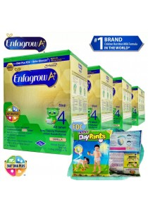 Enfagrow A+ Step 4 1.8kg (4packs) - Vanilla + FOC 5 packs Petpet DayPants Sample (random size)