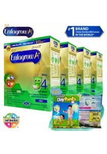 Enfagrow A+ Step 4 600g (4packs) - Original + FOC 2 packs Petpet DayPants Sample (random size)