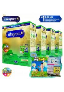 Enfagrow A+ Step 4 600g (4packs) - Vanilla + FOC 2 packs Petpet DayPants Sample (random size)