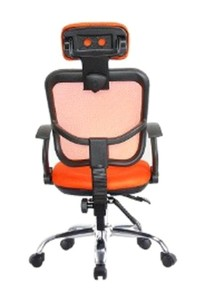 Ergonomic and Adjustable Swivel Office Chair A Orange