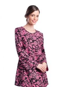 Esprima Colour Floral Print Blouse-188725M (Pink)