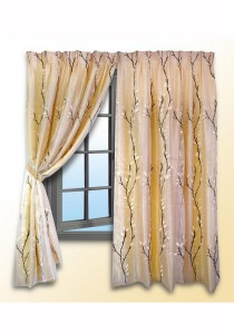 Essina Heliconia 2 Layer French Pleated 4 Panel Curtain