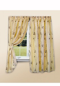 Essina Lilac 2 Layer French Pleated Curtain 3 Panel