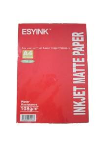 Esyink 108 gms Inkjet Matte Paper A4 x 100s