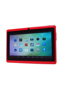 "Ewing 7"" Pro A33 Quad Core 1.5gHz Bluetooth Dual Camera Android 4.4 Tablet (Red)"