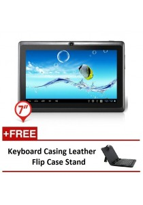 "Ewing 7"" PRO A33 Quad Core 1.5gHz Bluetooth Dual Camera Android 4.4 Tablet + Keyboard Casing Leather Flip Case Stand"