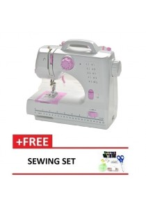 Expert Sewing Machine 505B 10 Sewing option - Pink + + Sewing Set