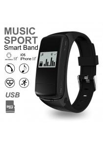 F50 Smart Band Bluetooth Talk Band Music Sport Smart Bracelet Wristband Pedometer Fitness Tracker Heart Rate Monitor