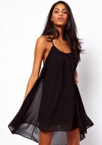 Bareback Dress / Bikini Wrap (Black)