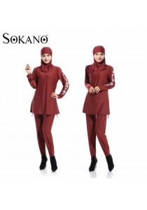 Fashion Ladies Muslimah Women Swim Suit Wear Sport Clothing - Red