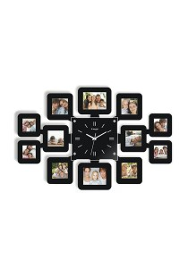 Fashion Wall Clock with 12 Photo Frames