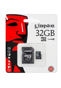 Kingston 32GB Micro SDHC Class 4 Flash Memory Card with Adapter