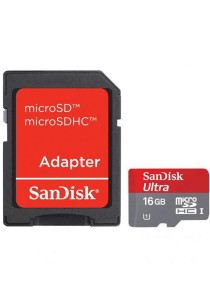 Sandisk 16GB Mobile Ultra Micro SDHC Memory Card Class 10 with Adapter
