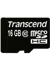 Transcend 16GB Class 10 Micro SD with Adapter