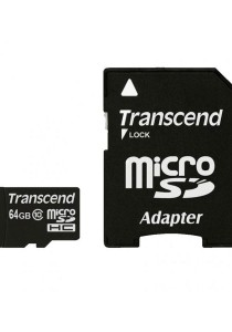 Transcend 64GB microSDHC Class 10 UHS-I 300x Premium with Adapter