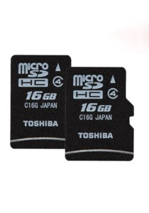 2 Units Toshiba 16GB MicroSD Card Class 4 without Adapter