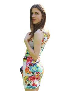 Women Floral Printed Sleeveless Dress