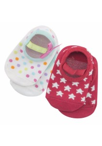FIFFY 2 in 1 Anti-slip Baby Socks A409VP (Red,Pink,White)
