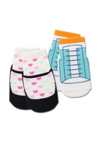 FIFFY 2 in 1 Anti-slip Baby Socks (Pink & Blue)