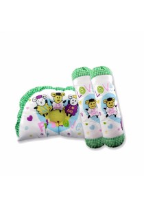 FIFFY Baby Pillow & Bolster Set (Green)