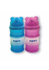 FIFFY 2 in 1 Compartments Milk Powder Container (Blue & Pink)
