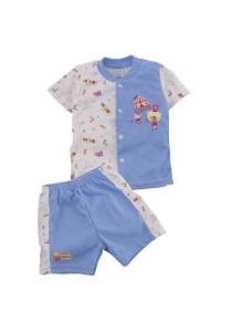 FIFFY Circus Short Sleeve Vest Suit (Blue)